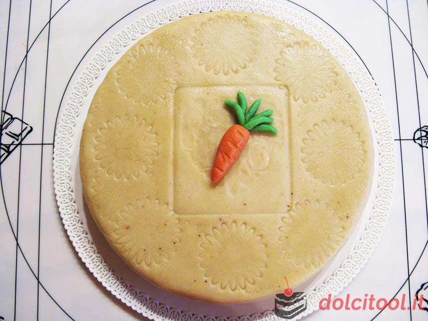 torta di carote mandorle e marzapane