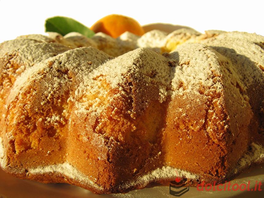 ciambella soffice alla panna e arancia